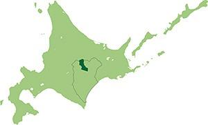 上士幌町の位置図